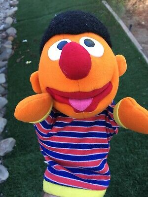 Vintage Applause 1991 Sesame Street  Ernie Hand Puppet USED PRE-OWNED