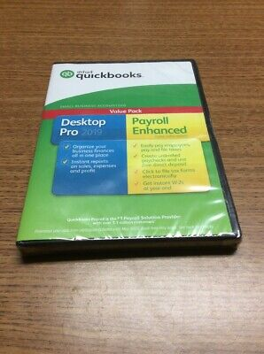 Brand New Intuit QuickBooks Desktop Pro 2019 with Enhanced Payroll