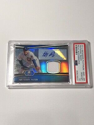 2012 Bowman Platinum #AR-AR Anthony Rizzo Chicago Cubs Relic Auto Psa 10!!!!