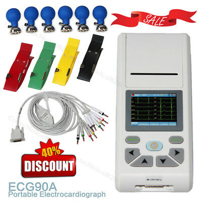 Digital 1 channel Touch ECG EKG machine Electrocardiograph 12 Leads USB Software