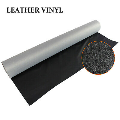 Black Synthetic Leather Fabric Material Auto Marine Vinyl Upholstery Mould Proof
