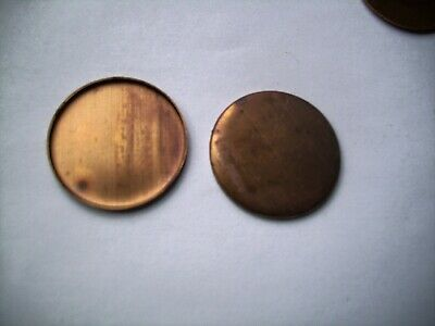 250 pcs. Round- Raw  Brass  Setting Shape - 24mm