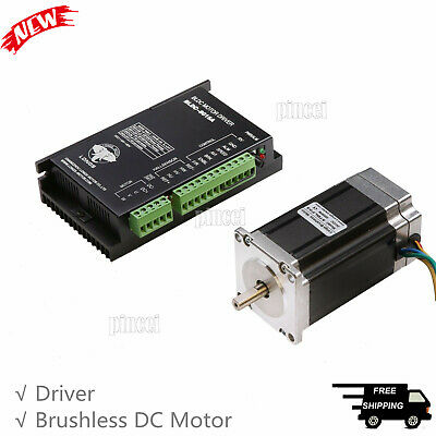 57BLF03 Brushless DC Motor Nema23 188W 24V 3000RPM Router Milling DRIVER 8015A
