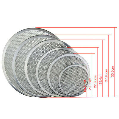 Durable Round Pizza Oven Baking Tray Barbecue Grate Nonstick Mesh Net UK