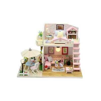 Girls Dream Wooden Pretend Play House Doll Dollhouse
