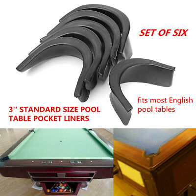 Alomejor 6 Pcs Billiard Table Liners Plastic Pool Table Pocket Liners Replacement 4 Corner Liners 2 Sides Liners