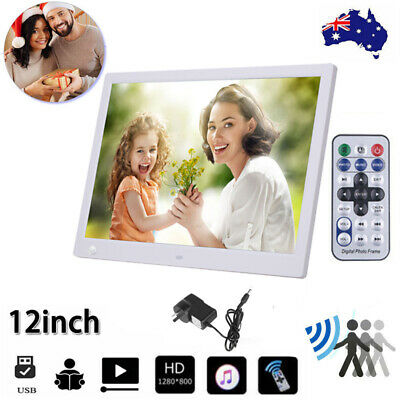 12 Inch Digital Photo Frame Video MP4/3 Player Montion Human Sensor Control Gift