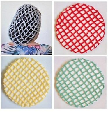 VINTAGE STYLE 1940's PERKY SNOOD - HAND CROCHETED VARIOUS COLOURS AVAILABLE