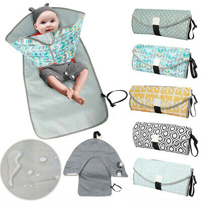 3in1 Baby Infant Changing Pad Mat Waterproof Clean Hands Clutch Change Diaper AU