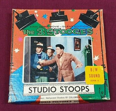 Vintage Studio Stoops The 3 Stooges 8Mm Columbia Pictures Home Movie Reel