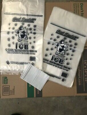 200/PACK ICE BAGS 12x21 •10 Pound Capacity 10Lb • FAST SHIPPING FROM U.S.A 🇺🇸