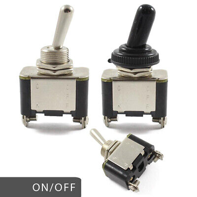 Heavy Duty On / Off Metal Toggle Switch 25 AMP Rated 12v / 24v Waterproof Cover