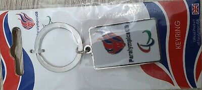 NEW London 2012 Paralympic souvenir Keyring Collectable KEY CHAIN TEAM GB # 2