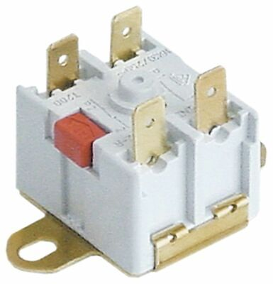 Bi-Metal Safety Thermostat Hole Distance 40Mm Switch-Off Temp. 100°C 2Nc 2-Po