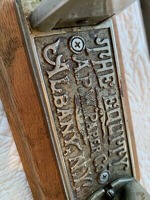 antique toilet paper holder THE EQUITY APW PAPER CO. 1800's Cast Albany New York