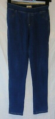 Girls M&S Blue Soft Denim Stretch Skinny Fit Jeggings Jeans Age 12-13 Years