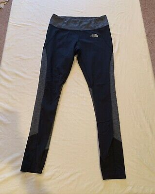 North Face Women's Fitness Workout Athletic Leggings Black / Grey Size S Small