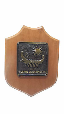 Nautical Ship Vintage ''Puerto De Cartagena '' Eccentric Shield S071