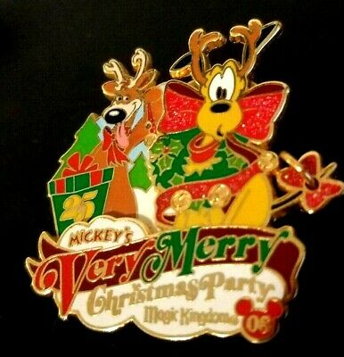 Disney Pin 66338 WDW - Mickey's Very Merry Christmas Party 2008 - Pluto 2008