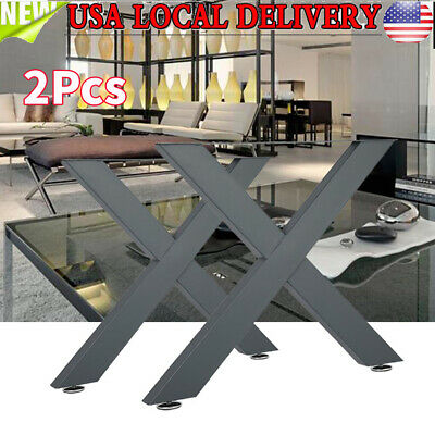 "Set of 2 31.5""x 31.5"" Industry Table Leg Steel Chair Bench Legs DIY furniture"
