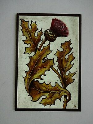 Beautiful Stained glass FLOWER Hand painted Kiln fired 170 x 115mm Antique st