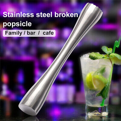 Professional Stainless Steel Cocktail Muddler Mojitos Drink Bartender Tool