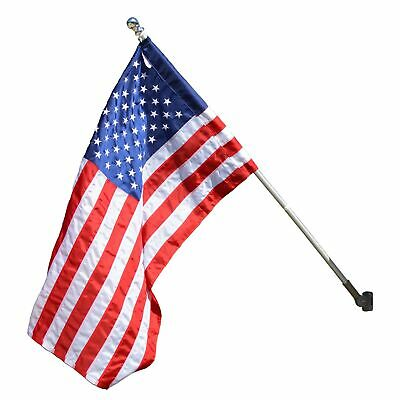 Valley Forge Flag 2.5 x 4 Foot Nylon US American Flag Kit with 5-Foot Aluminu...