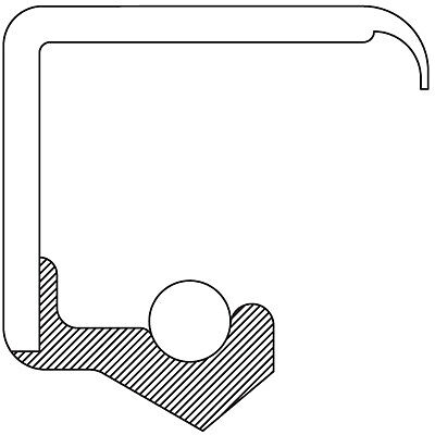 Manual Trans Drive Shaft Seal-5 Speed Trans National 710164