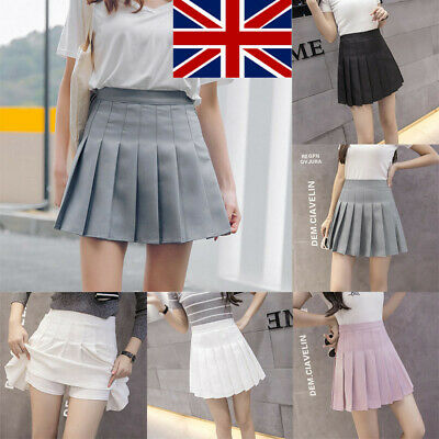 Women Girl Slim High Waist Safety Pants Tennis Skirts Mini Dress Skirt #U Seja