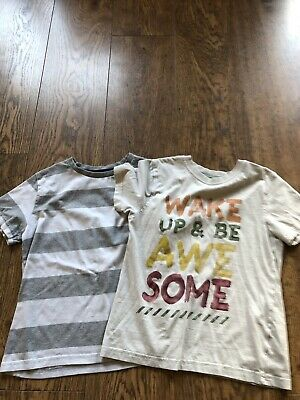 Boys T Shirt / Top X 2 Bundle Aged 7 - 8 Years Short Sleeved