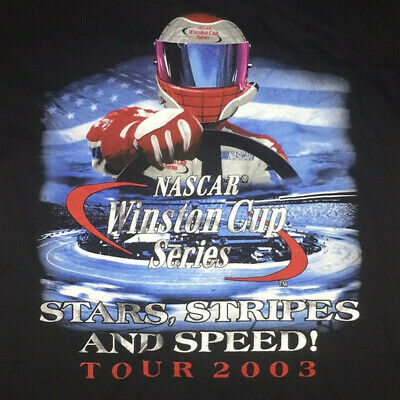 NEW NASCAR Winston Cup Series 'Stars, Stripes, and Speed' Tour 2003 T-Shirt.