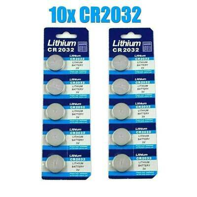 Lots 10Pcs CR2032 3V cc Li-ion Coin Cell Battery Button Batteries CR 2032 DL BR