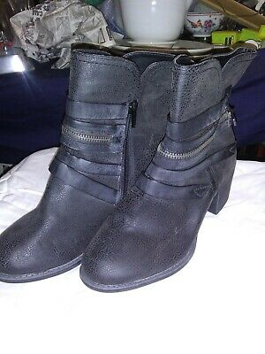 """NWOT Womens BLACK Hocus Pocus Boots, Size 6.5-""""Bronco"""" style-warehouse find(H1)"""