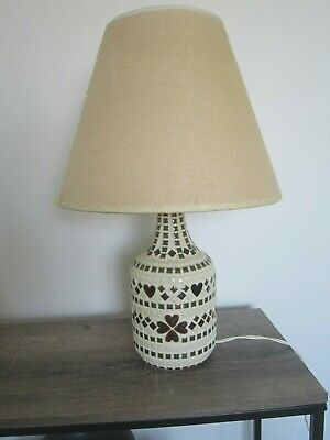 Vintage Very Retro Kitsch Ceramic Base Table Lamp with Shade