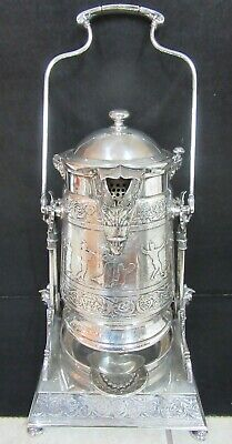 Ornate Reed & Barton Silverplate Tilt Presentation Pitcher Typographical Union