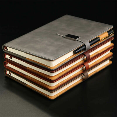 A5 Vintage Leather Cardboard Notebook Personal Diary Journal Planner With Buckle