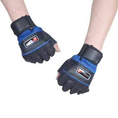 Gym Bodybuilding Training Leather Gloves Weight Lifting Workout CN