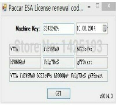 Electronic Service Analyst (ESA) 4.4-5.2 keygen for Paccar