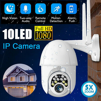 HD 1080P WIFI IP Camera Wireless Outdoor CCTV PTZ Smart Home Security IR Cam