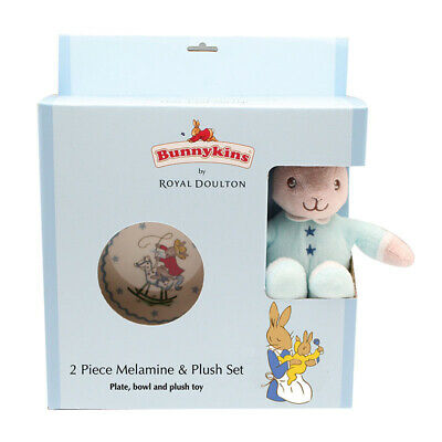 Bunnykins - Plush Toy, Bowl & Plate Blue