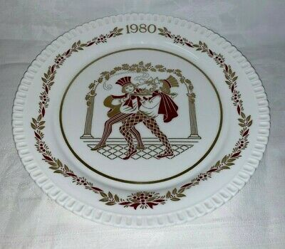 """Spode England China 8"""" Christmas Plate 1980 The Boars Head - Others Available"""