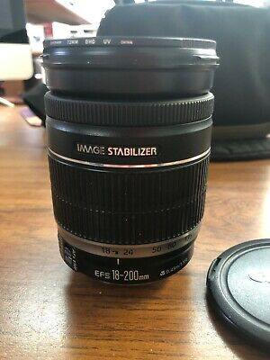 Canon EF-S 18 mm - 200 mm F/3.5-5.6 EF-S IS For Canon - Black