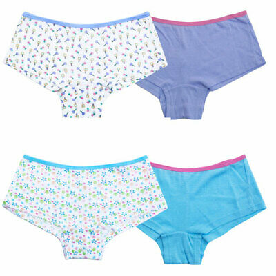 2 PAIRS Girls Boxer Shorts 100% Cotton Knickers Briefs Pants Childrens Underwear
