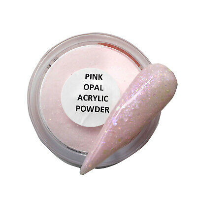 Coloured Acrylic Powder by TNBL - Pink Opal glitter powder for ombre nails