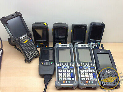 **WHOLESALE** Lot of 9 Handheld Barcode Scanners Symbol Intermec Motorola