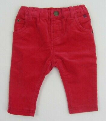 NEW BABY BODEN CORD  TROUSERS  PULL ON BOTTOMS  ELASTICATED pink  3-6 m