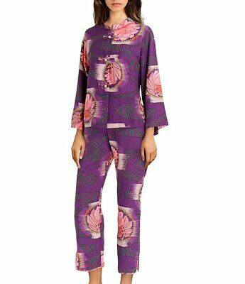 Size L and XL~  Natori  ~ Deep Purple Satin Pajama Set NWT $180