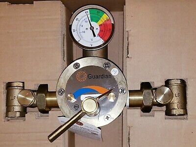 """Guardian 44 GPM mixing valve G3800LF 1"""" inlet 1-1/4"""" outlet made in USA  NSF61"""