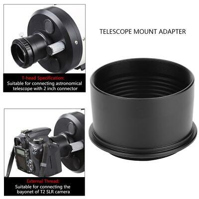 "Aluminum Alloy 2"" to T2 M42*0.75 Thread Telescope Eyepiece Camera Mount Adapter"
