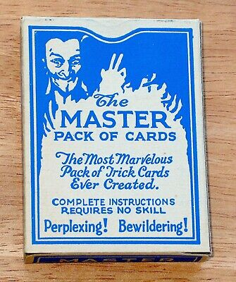 """1924 Robert Sherman (Sherms) """"Master Pack of Cards"""" (Magician's Cards & Box) NM"""